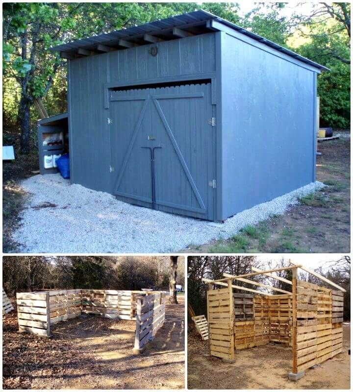 how to build a garden shed from pallets