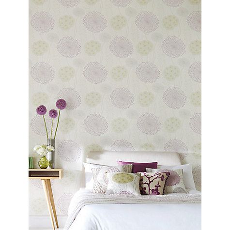 Buy Harlequin Gardenia Wallpaper, Cassis/Fennel 60403 Online at johnlewis.com