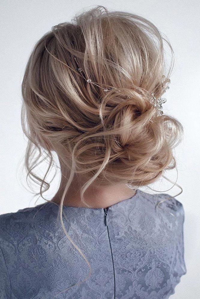 Pinterest Wedding Hairstyles Elegant Messy Airy Low Bun On