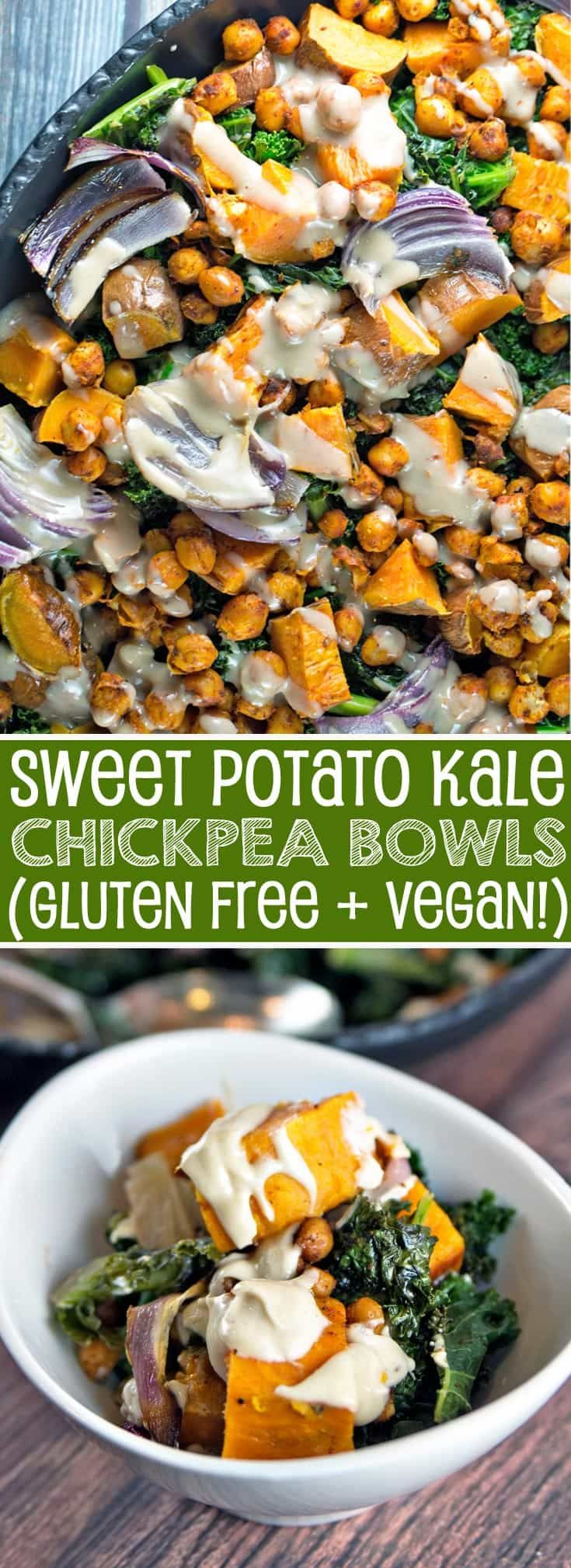 Sweet Potato Kale Chickpea Bowl | Gluten Free | Vegan | Comfort Food | Bunsen Burner Bakery via @bnsnbrnrbakery