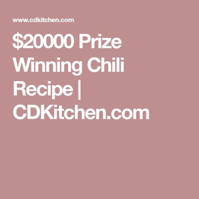 $20000 Prize Winning Chili Recipe   CDKitchen.com
