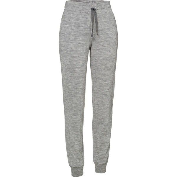 Icebreaker Crush Pant (£76) ❤ liked on Polyvore featuring pants, bottoms, leggings, calça, pantalones, green trousers, drawstring waist pants, faux-leather pants, green pants and merino pants