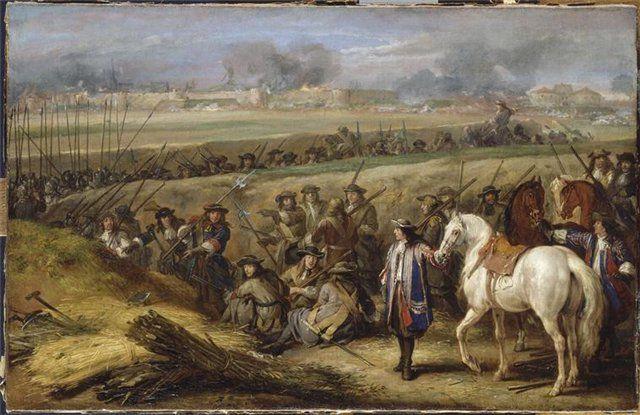 Людовик XIV при осаде Турне.21.06.1667 г.Как заметил Ф.Блюш,не овладей Люд.XIV своеврем.провинцией Франш-Конте,англо-голл.соглашение могло бы лишить Фр-цию всех ее завоеваний 1667г. А так благод.св. армии король Фр. смог заключ.выгод. мир,сыграв роль щедрого побед-ля,к-рому были чужды всякие импер.амбиции.В кон.февр.1668г. голландцы предл. испанцам свое посредн-во.Непримир-ть, к-рую исп-цы прояв.в сам.нач.конфликта, способств.сближ.Яна де Витта(1625-1672, вел.пенсионарий Голл.с 1653г) с…