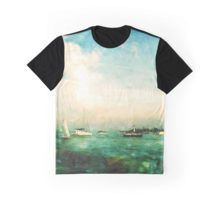 #Graphic T-Shirt @redbubble @KristaDroopArt #KristaDroop #Eye4Dogs #Unique #Original #Texture #Textile #Apparel #Illustration #Colorful #Graphic #Photographer #DigitalArt #WearableArt #Abstract #Navy #Pier #Ocean #Water #Sail #Boats #Blue #Green #Paint #Photographer #DigitalArtist