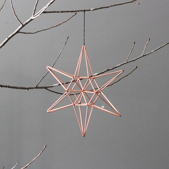 Copper star himmeli