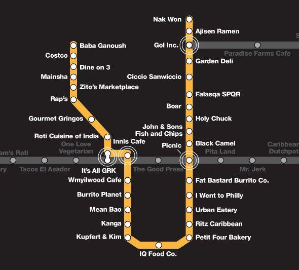 Cheap eats by subway station