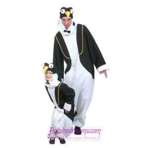 Costume de deguisement pingouin chic adulte.