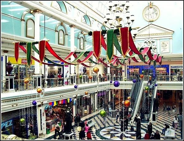 Christmas decoration at Plaza Norte Mall - Madrid, Spain