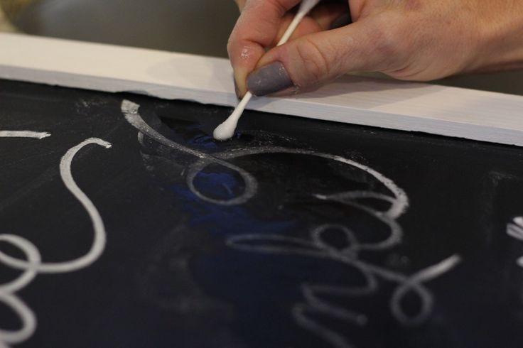 Chalkboard writing tips.