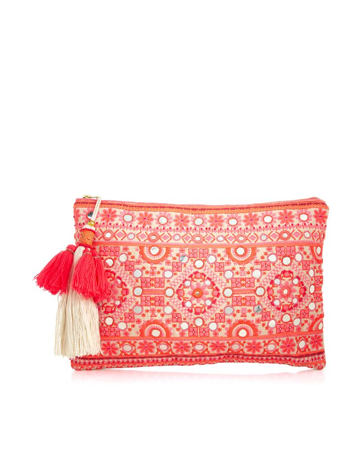 Samba Embellished Beach Clutch Bag