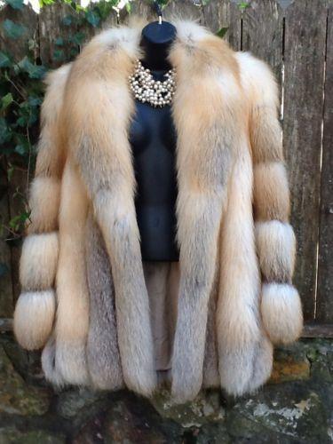 Authentic Finland Fox Fur Coat Natural Fox Women's  One of the prettiest coats I've seen :-)