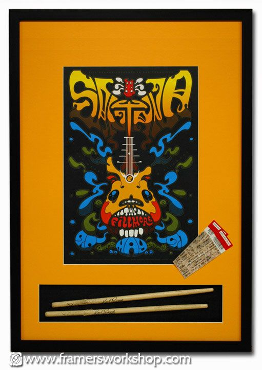 10 Best Rock Poster Framing Fillmore Poster Framing