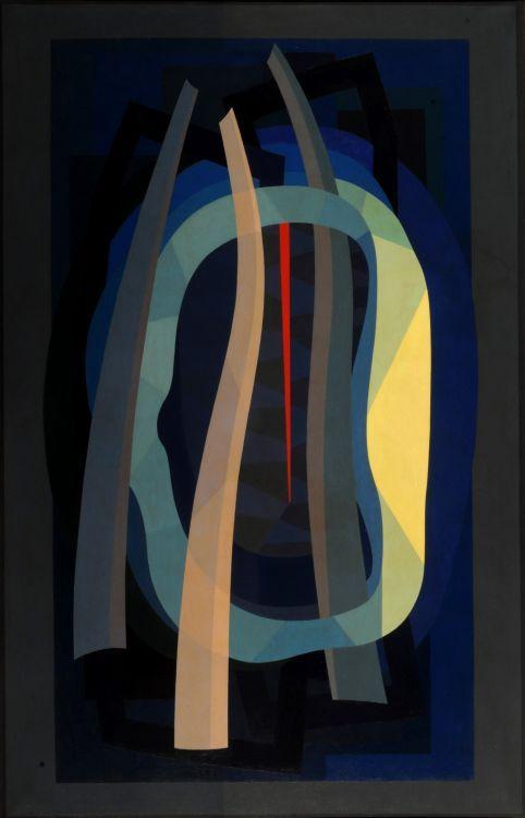 L'hiver à París (Invierno en París) (1955) Oleo sobre tela - Emilio Pettoruti (Argentino 1892-1971) Museo Nacional de Bellas Artes de Buenos Aires