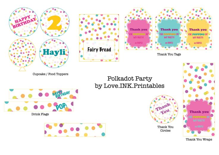 Bubbles, Balls and Balloons Party by LoveINKprintables on Etsy