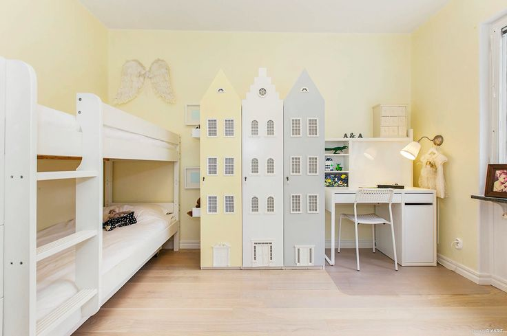 Kids room - part 2. Re designed wardrobes to suit yellow/grey theme in my small apartment.