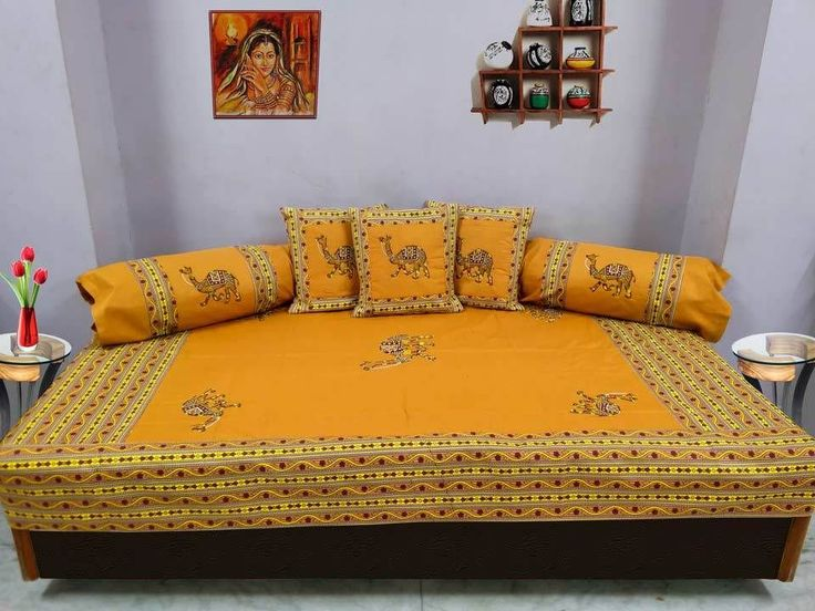 Details about one gram gold plated american diamond for Divan bed sheet