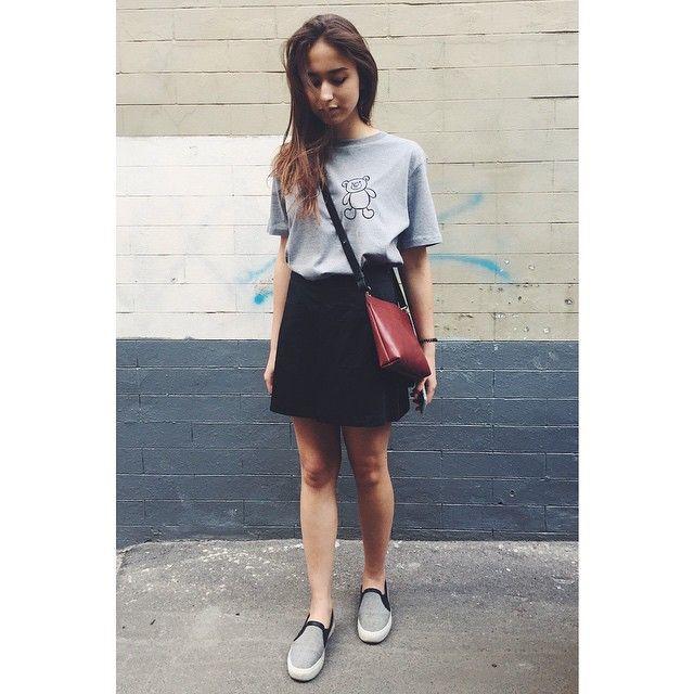 #riakeburiaXinposter tshirt #f_o_r_m_a skirt #nim_design bag