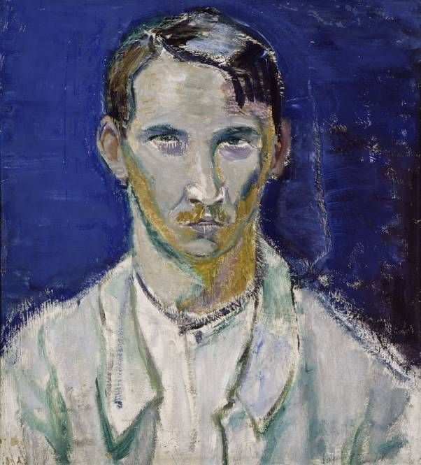TYKO SALLINEN Self-Portrait (1914) | via Anne Valsta • https://www.pinterest.com/pin/521925044288332093/ || Tyko Konstantin Sallinen (March 14, 1879 – September 18, 1955), Finnish painter. | http://fi.wikipedia.org/wiki/Tyko_Sallinen