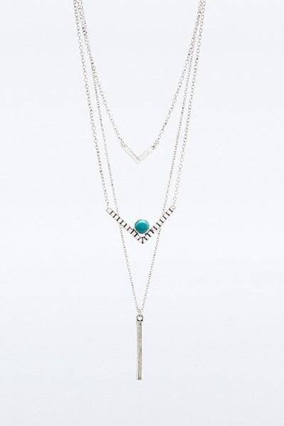Silver Boho Layering Necklaces #jewelry #women #boho #beautiful #covetme #urbanoutfitters