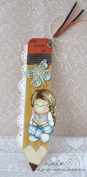 Inky Angel: Study Tilda Bookmark