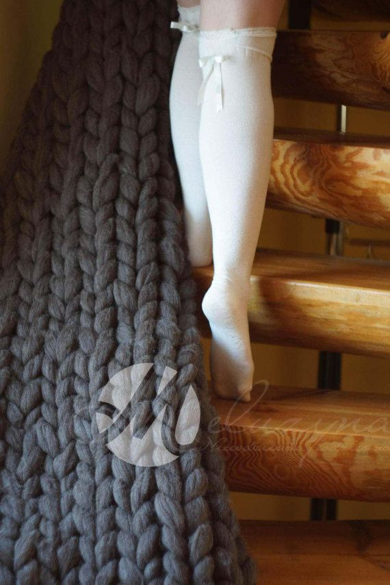Big chunky knit blanket, wool blanket, woolly blanket, chunky wool, Throw, knit throw, chunky throw, chunky knit