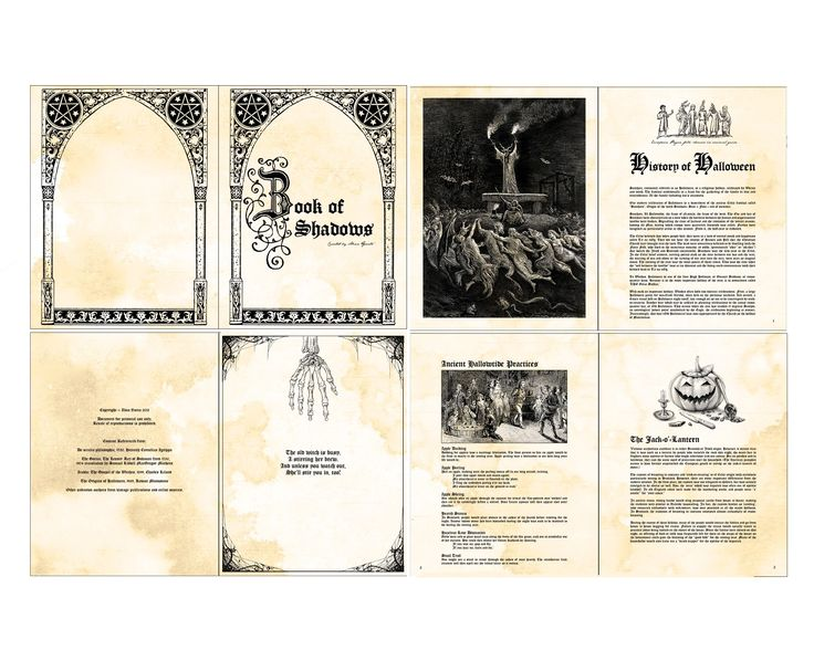 Printable Book Of Shadows Pages | Quirky Artist Loft: Free Printable Doll Spell Book