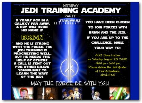 jedi knight certificate template - lego star wars jedi training invitations lego star wars