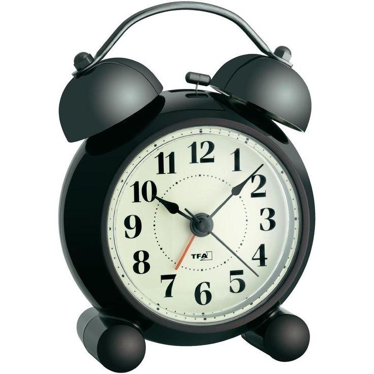 Horloge électronique TFA Nostalgie quartz 87 x 120 x 60 mm (24€ - silencieuse)