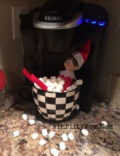 Elf on the Shelf easy ideas, What to do with your Elf, Silly Ideas for your Christmas Elf on the Shelf day 12 .jpf