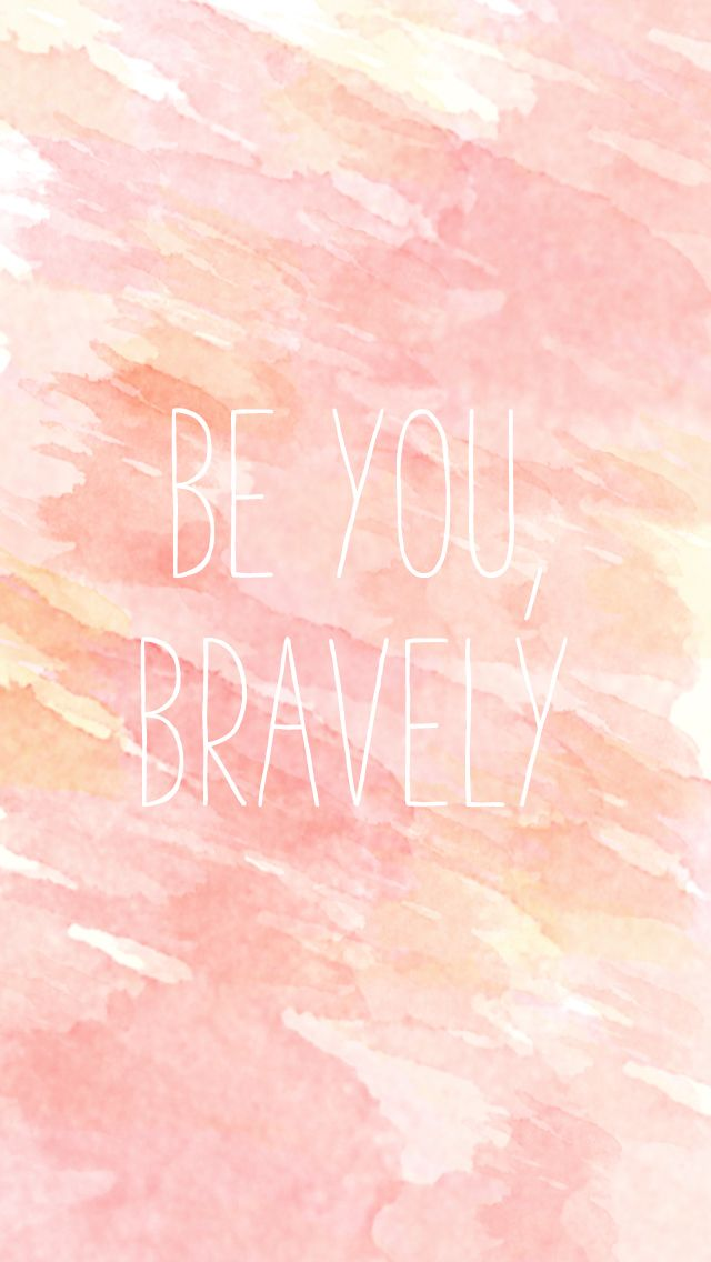Be Brave iPhone Wallpaper Watercolor @PanPins