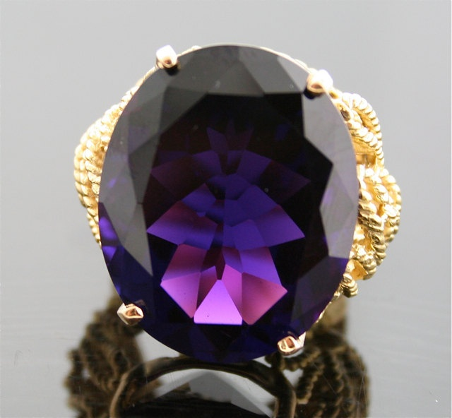 Vintage Amethyst Ring Gem Quality Amethyst in by SITFineJewelry