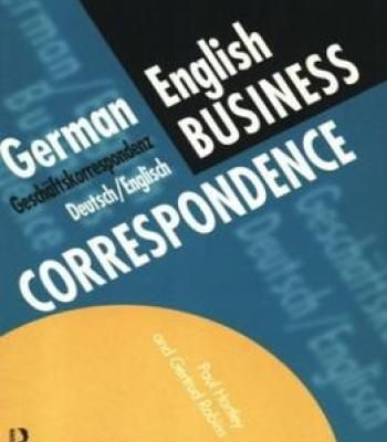 German/English Business Correspondence PDF