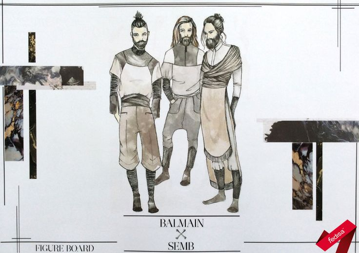 Menswear Capsule Collection design illustrations for a collaboration proposal with an established brand [2nd year 2015]