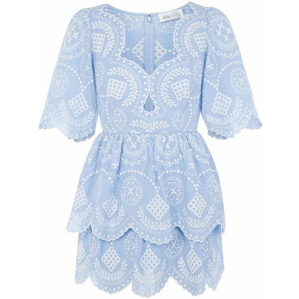 alice McCALL | alice McCALL I'd Fly Dress Sky - alice McCALL (6.003.000 IDR) ❤ liked on Polyvore featuring dresses, blue color dress, alice mccall dress, alice mccall and blue dresses