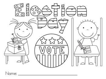 FREE - Election Day Color Page - Kady Becker - TeachersPayTeachers.com