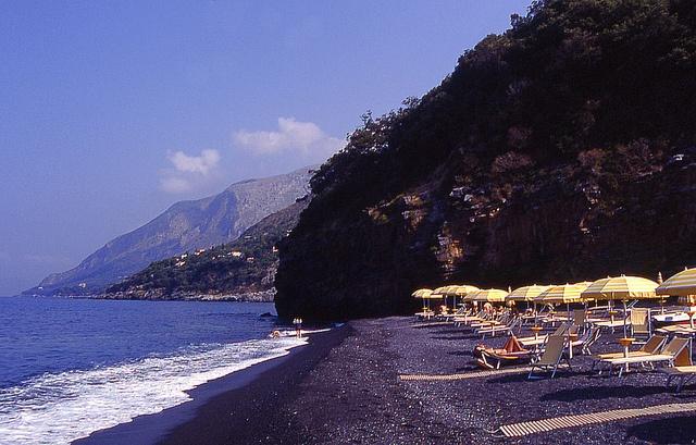 Maratea, italy. Spiaggia nera