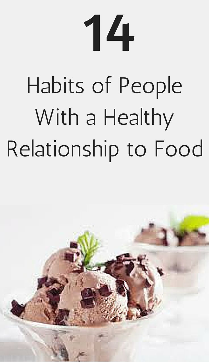 Have a healthy relationship with food! Some true insight.