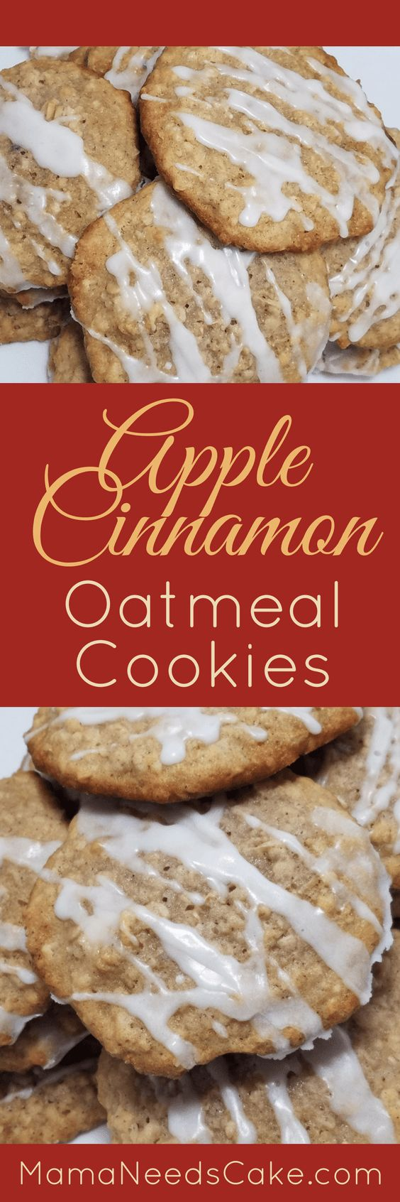 This Apple Cinnamon Oatmeal Cookies Recipe is super moist and perfect for apple fans. It is also great for Fall and Harvest season!