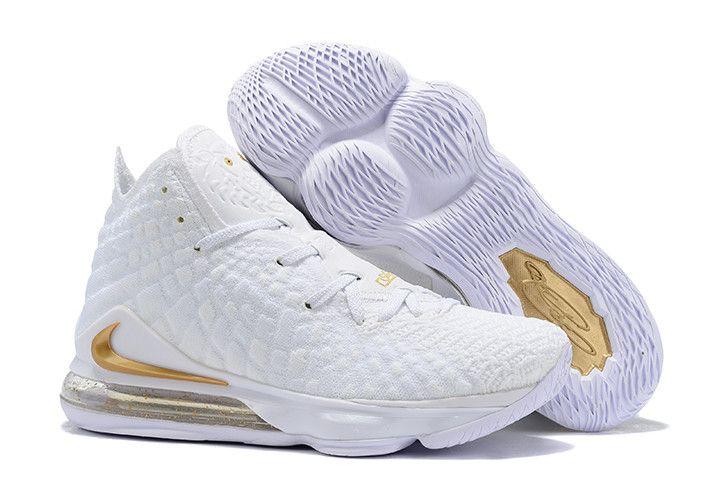2019 Nike LeBron 17 White/Metallic Gold