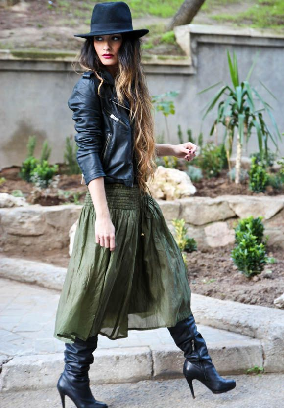 Leather Boots and Jacket