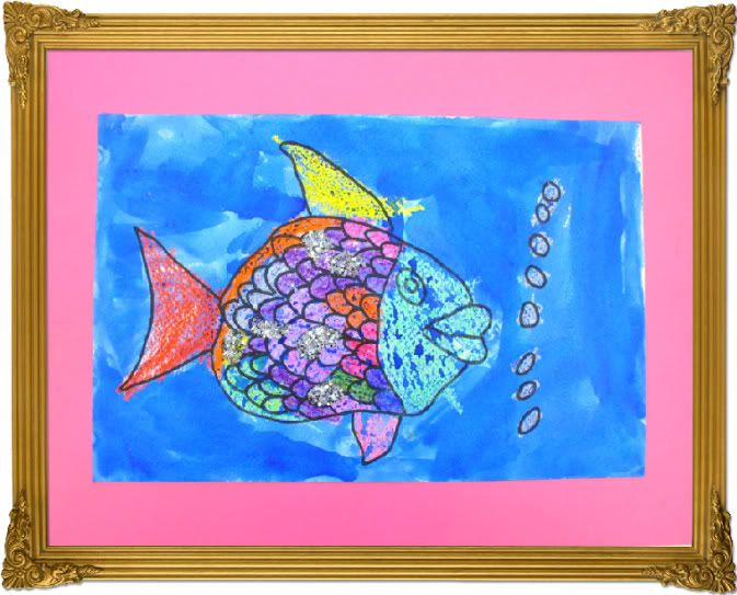 Art project inspired by the children 39 s book the rainbow for Children s fish book