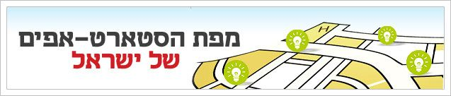 Map of Israel's Start Ups l mouse over each flag , name will pop up in english l מפת הסטארט אפים של ישראל