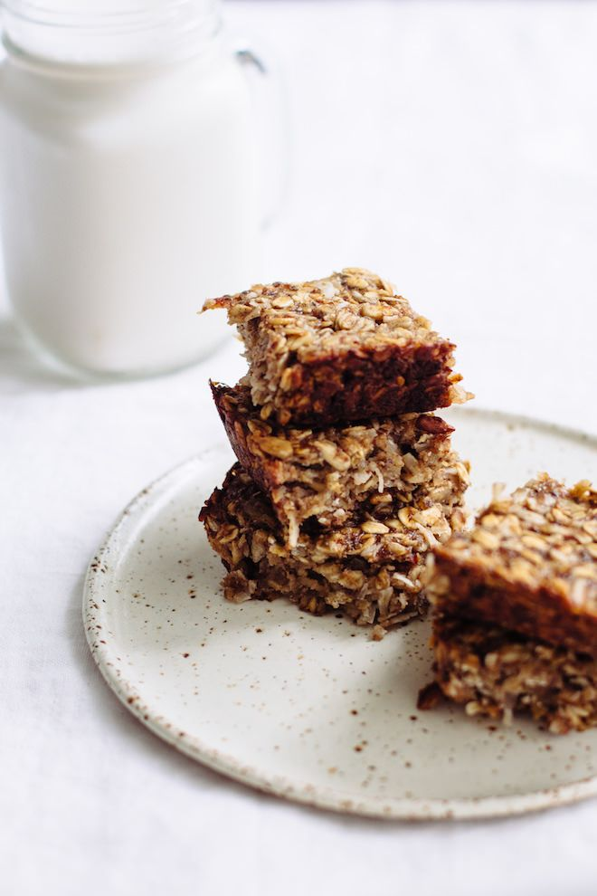 Chewy Coconut Breakfast Bars, V GF | Nutrition Stripped