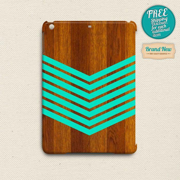 Green Wooden Chevron Pattern iPad Air Case, iPad 2 3 4 Case, iPad Mini Case by elevenbuttons on Etsy