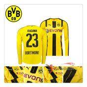 Nouveau Flocage Maillot De Dortmund BVB Manche Longue (Kagawa 23) Domicile 2016 2017