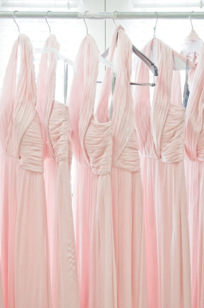 Pink Jenny Yoo Bridesmaids Gowns on Style Me Pretty {Photography by Sean Money & Elizabeth Fay}