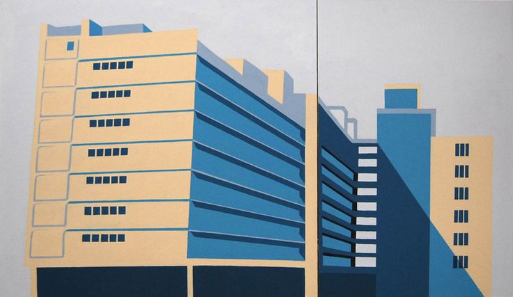 Thenjiwe Nkosi (b 1980). TOTALITY OF FACTS: JOHN VORSTER SQUARE 2009. Acrylic on canvas, 140 x 90 cm.