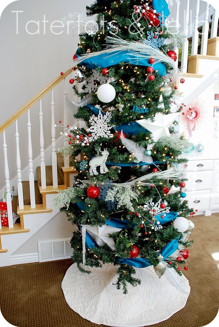 Easiest Ruffle Tree Skirt from @Jennifer Hadfield. So cute & quick.Ruffles Trees, Tree Skirts, Holiday Inspiration, Easiest Ruffles, Jennifer Hadfield, Skirts Holiday, Trees Skirts, Christmas Trees