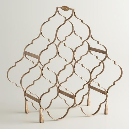 OMG, I love this wine rack!! One of my favorite discoveries at WorldMarket.com: Gold 8-Bottle Taj Wine Rack