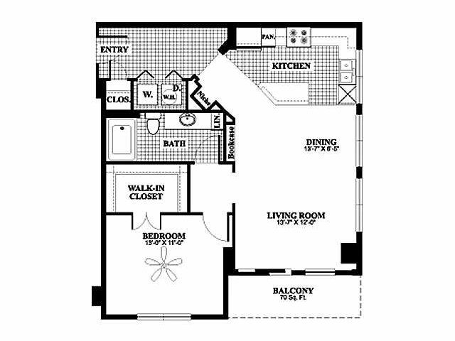 Bryson at City Place 1 bedroom  1 bath apartment floor plan  Bryson at City. 72 best Bryson at City Place Floor Plans images on Pinterest   2